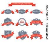 vector vintage set of labels... | Shutterstock .eps vector #234829909