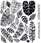 a collection of hand drawn... | Shutterstock .eps vector #234834655
