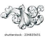 vintage baroque engraving... | Shutterstock . vector #234835651