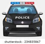 vector police car  1   front... | Shutterstock .eps vector #234835867