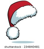 cartoon santa hat isolated on... | Shutterstock .eps vector #234840481