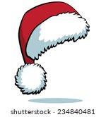 cartoon santa hat isolated on... | Shutterstock .eps vector #234840481