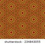islamic star pattern background | Shutterstock .eps vector #234843055