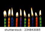 burning candles on black... | Shutterstock . vector #234843085