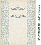 vintage ornate border frame... | Shutterstock . vector #234846139
