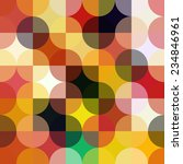 colorful circle square... | Shutterstock .eps vector #234846961