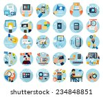 icons set for web design ... | Shutterstock . vector #234848851