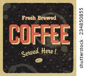 coffee vintage poster. raster... | Shutterstock . vector #234850855