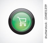 shopping cart sign icon green...