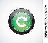 reload sign icon green shiny...