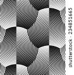 striped shells black white... | Shutterstock .eps vector #234851665