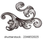 vintage baroque scroll design... | Shutterstock . vector #234852025