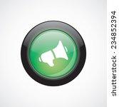 speaker glass sign icon green...
