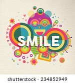 smile colorful typographical... | Shutterstock .eps vector #234852949