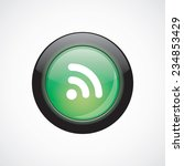 wifi glass sign icon green...