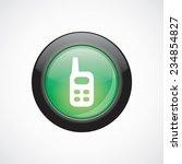 radio glass sign icon green...