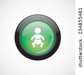 baby glass sign icon green...