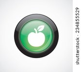 apple glass sign icon green...