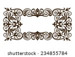 vintage ornate border frame... | Shutterstock . vector #234855784