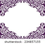 vintage baroque scroll design... | Shutterstock . vector #234857155