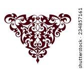 vintage baroque scroll design... | Shutterstock . vector #234857161