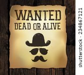 "old ""wanted..."" poster. raster... 