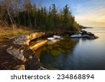 Beautiful Cove And Sunset On...