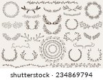 hand drawn wreaths and borders | Shutterstock .eps vector #234869794