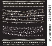vector set of garlands and... | Shutterstock .eps vector #234869899