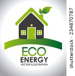 ecology design over white... | Shutterstock .eps vector #234870787