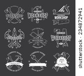 vintage carpentry tools  labels ... | Shutterstock .eps vector #234872941