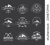 camping mountain adventure... | Shutterstock .eps vector #234872944
