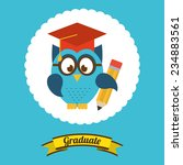 graduation  design   vector... | Shutterstock .eps vector #234883561