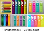 colorful modern text box... | Shutterstock .eps vector #234885805