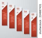 design clean number banners... | Shutterstock .eps vector #234887431