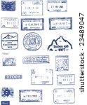 custom  border and mountaineers ...   Shutterstock .eps vector #23489047
