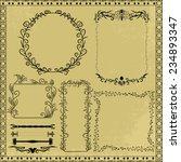 vector decorative design... | Shutterstock .eps vector #234893347