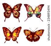 butterflies design | Shutterstock . vector #234893494
