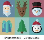 christmas icons set  flat design | Shutterstock .eps vector #234898351
