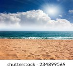 View Of The Sandy Beach Of The...