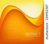 orange background vector curve... | Shutterstock .eps vector #234902587