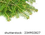 firs branches in white xmas... | Shutterstock . vector #234902827