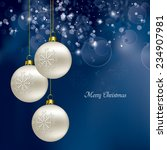christmas background. eps10. | Shutterstock .eps vector #234907981