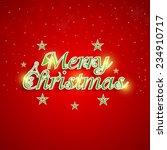 merry christmas celebration... | Shutterstock .eps vector #234910717