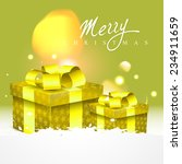 vector beautiful christmas... | Shutterstock .eps vector #234911659