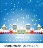vector winter season christmas... | Shutterstock .eps vector #234911671