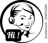 call center | Shutterstock .eps vector #234916384