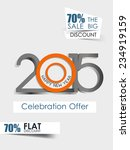 vector new year 2015 flyer for... | Shutterstock .eps vector #234919159