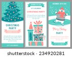christmas party invitations in... | Shutterstock .eps vector #234920281