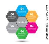 info graphic design template.... | Shutterstock .eps vector #234926995